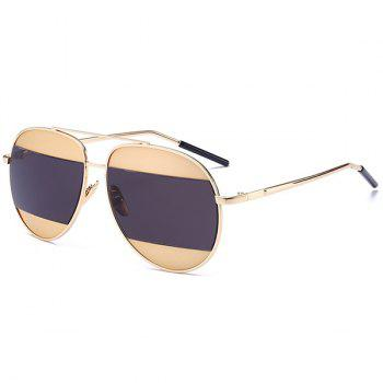 UV Protection Color Block Polit Sunglasses