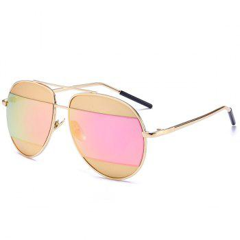 Mirror Anti UV Two-Tone Spliced Sunglasses