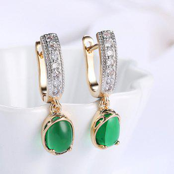 Rhinestoned Horseshoe Hoop Drop Earrings