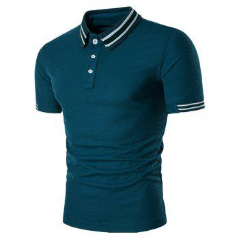 Varsity Stripe Panel Polo Shirt