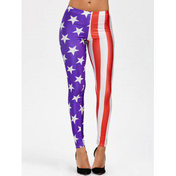 Mid Waist American Flag Leggings