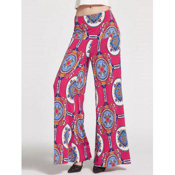 Floral Printed High Waisted Palazzo Pants