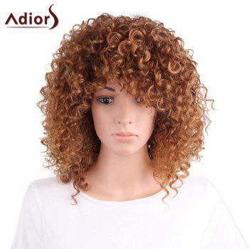 Adiors Side Part Long Shaggy Afro Curly Synthetic Wig