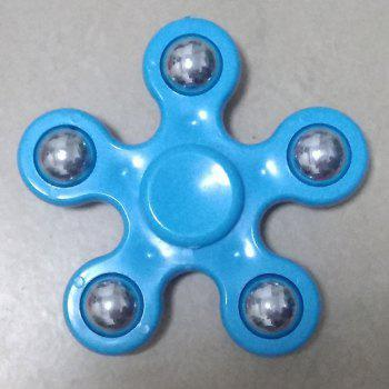 Floral Stress Relief Toy Hand Spinner Finger Gyro - BLUE