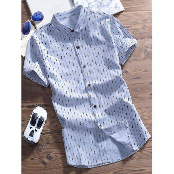 Stripes Printing Short Sleeves Shirt