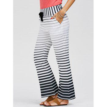Casual Low-Waisted Drawstring Loose-Fitting Striped Women's Pants