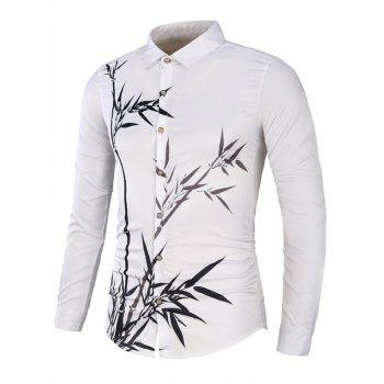 Bamboo Printing Long Sleeve Shirt