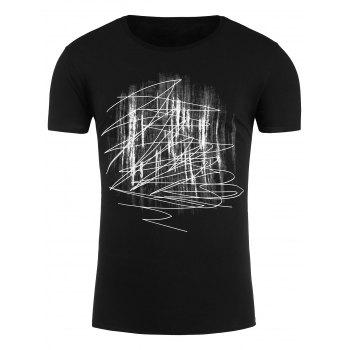 Abstract Print Crew Neck T-Shirt