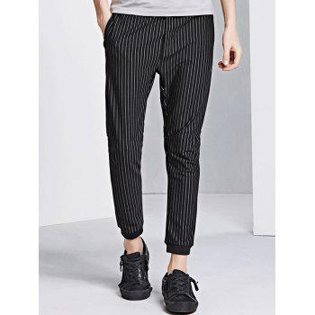 Drawstring Vertical Stripe Jogger Pants