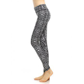 High Waist Pattern Fitness Leggings