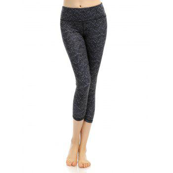 Pattern High Waist Cropped Yoga Leggings