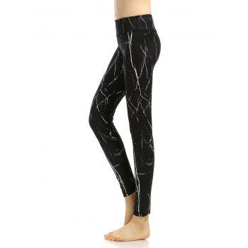 Breathable Printed High Rise Yoga Leggings