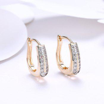 Alloy Rhinestoned Horseshoe Hoop Earrings