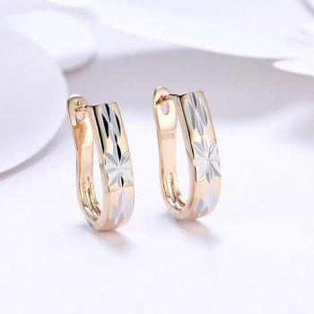Alloy Horseshoe Embellished Hoop Earrings