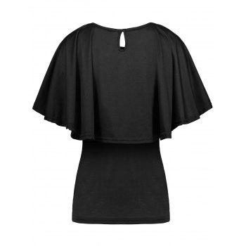 Tiers Layer Flounce Cape T-Shirt