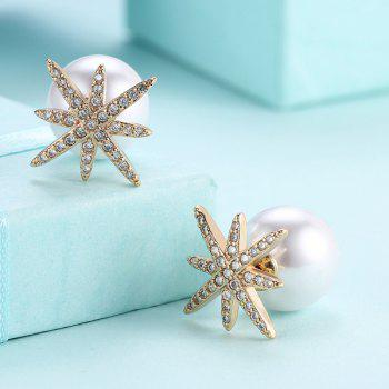 Rhinestone Artificial Pearl Eight Star Ear Jackets