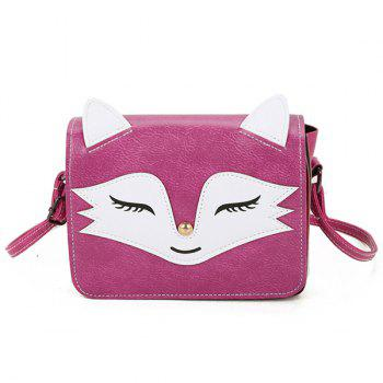 Fox Pattern PU Leather Crossbody Bag