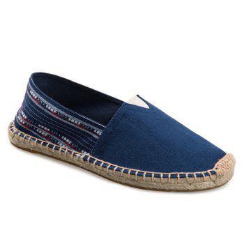 Canvas Espadrilles Striped Flat Shoes