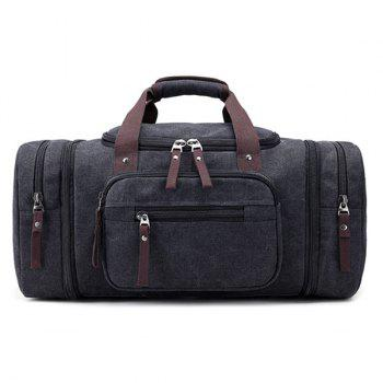 Multi Zippers Canvas Weekender Bag