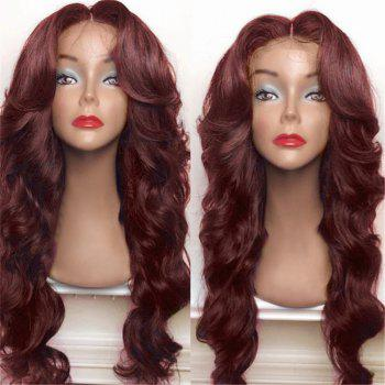 Long Shaggy Middle Part Big Wavy Synthetic Wig