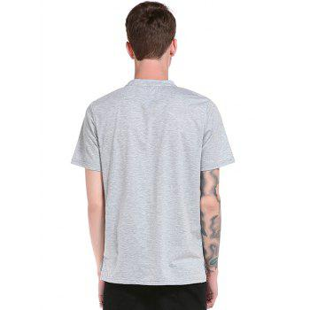 3D Scratch Print Short Sleeve T-Shirt - LIGHT GRAY S
