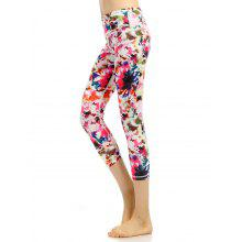 High Waist Colorful Pattern Capri Gym Leggings