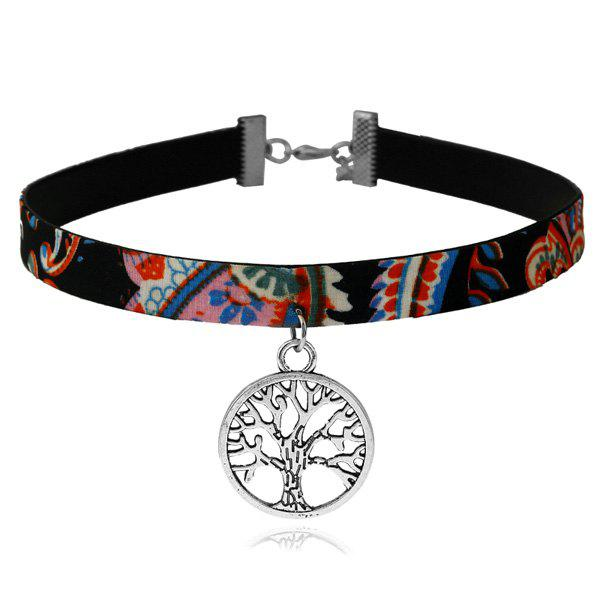 Ethnic Tree of Life Choker Necklace - multicolorCOLOR