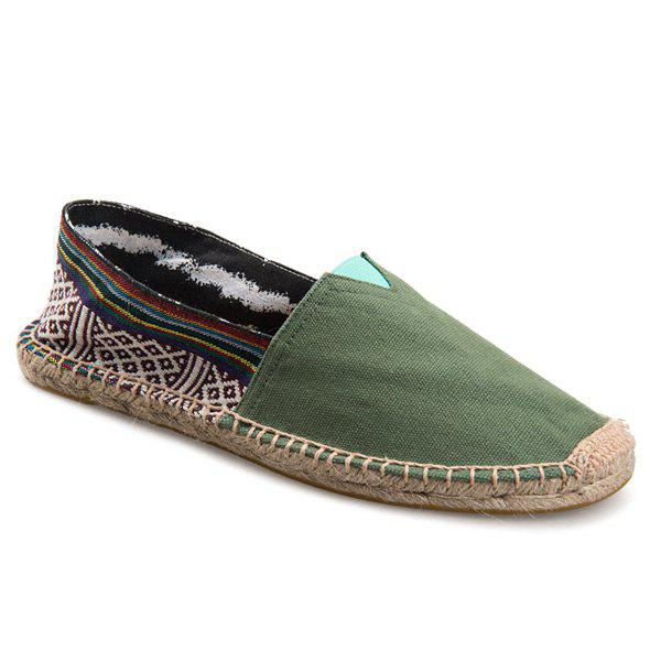 Canvas Espadrilles Striped Flat Shoes canvas espadrilles striped flat shoes