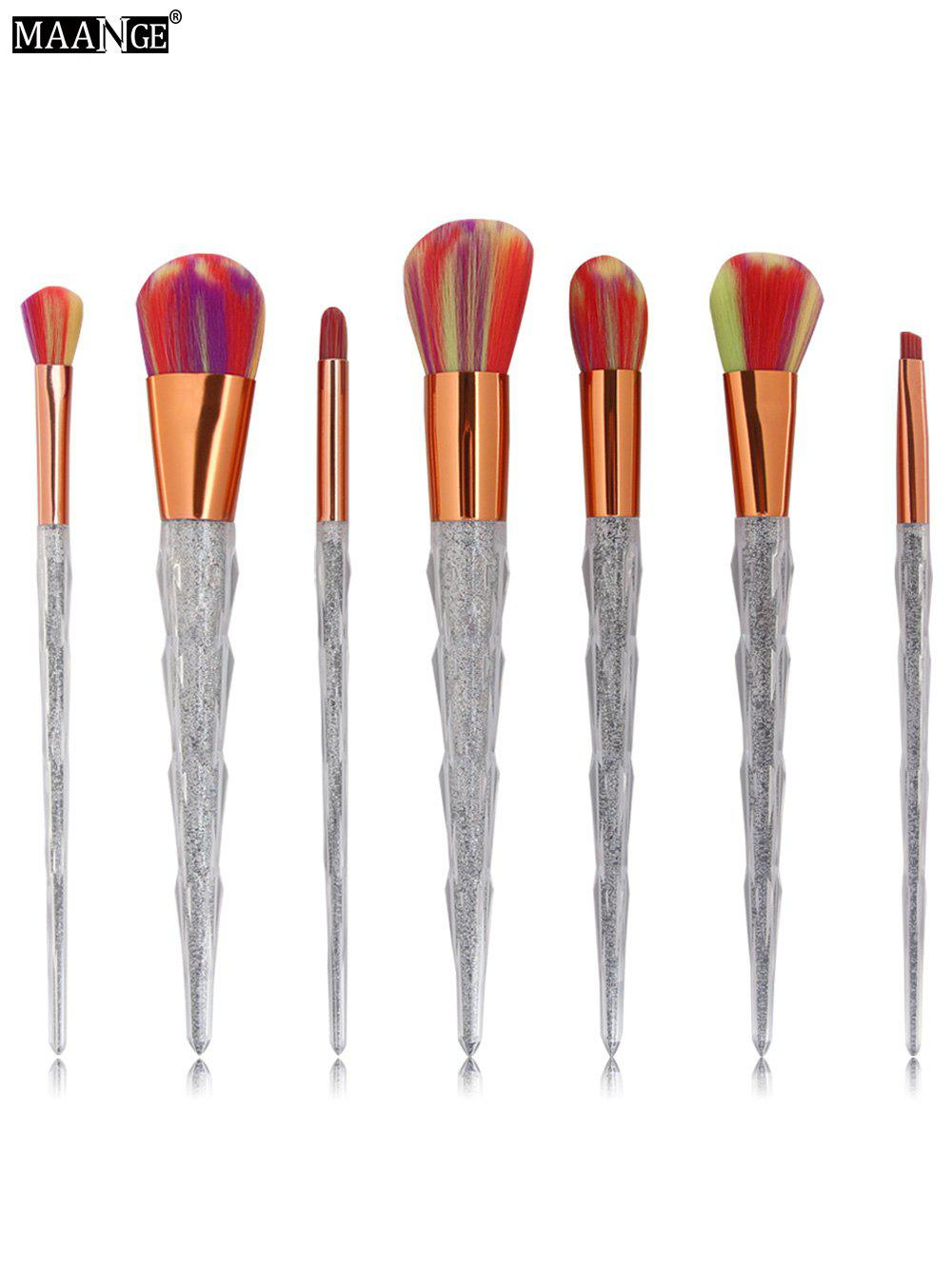Multicolor Brush Hair Unicorn Conical Makeup Brushes Kit - COLORFUL