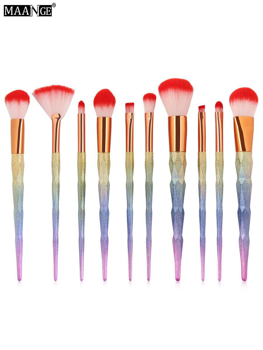 MAANGE 10Pcs Unicorn Conical Multicolor Makeup Brushes Set 10pcs unicorn tapered shape makeup brushes set