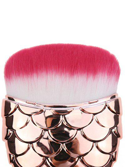 Mermaid Cambered Hair Face Makeup Brush - ROSE GOLD