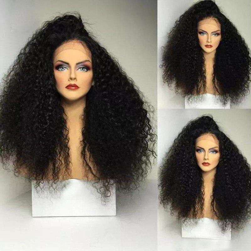 Long Side Part Shaggy Afro Curly Lace Front Synthetic Wig best quality afro curly synthetic lace