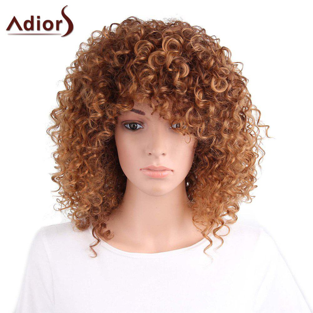 Adiors Side Part Long Shaggy Afro Curly Synthetic Wig long shaggy deep side part kinky curly synthetic wig