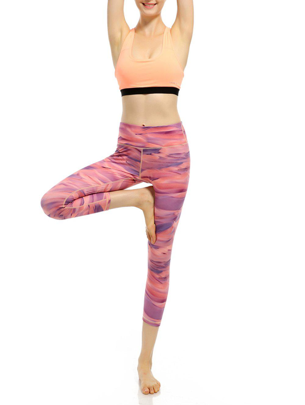 Quick Dry High Rise Funky Gym Leggings - PINK L