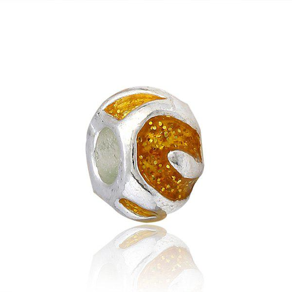 Geometric Alloy Charm DIY Bead - YELLOW