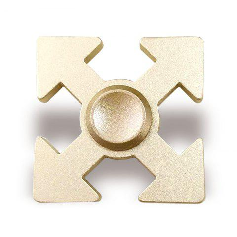 Arrows Shaped EDC Fidget Spinner Hand Plaything - GOLDEN 5*5*1.3CM