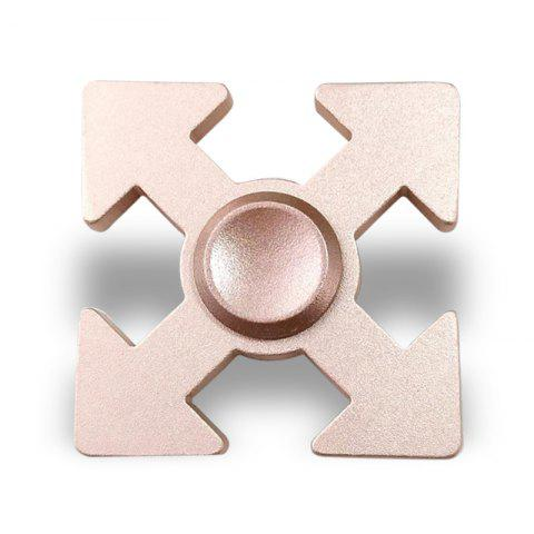 Arrows Shaped EDC Fidget Spinner Hand Plaything - ROSE GOLD 5*5*1.3CM