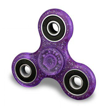 Plastic Finger Gyro Stress Relief Fidget Spinner EDC Focus Toy - PURPLE PURPLE