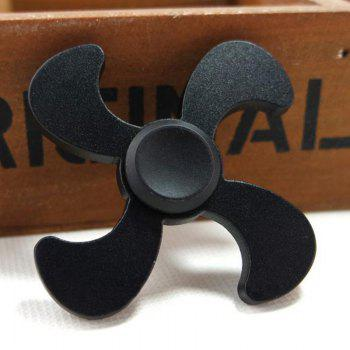 Metal EDC Fidget Spinner Stress Relief Toy - BLACK BLACK