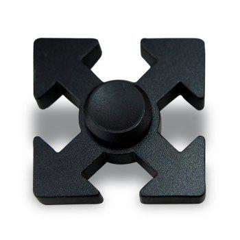 Arrows Shaped EDC Fidget Spinner Hand Plaything - BLACK 5*5*1.3CM