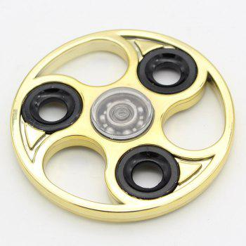 Soulagement de stress Finger Gyro Focus Roues à jouets Fidget Spinner - Or