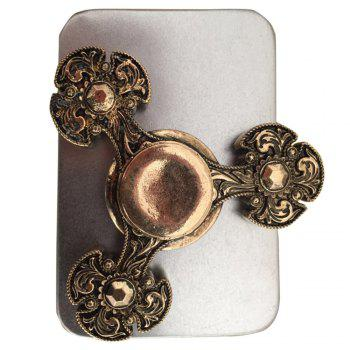 Metal Finger Gyro Flower Fidget Spinner EDC Stress Relief Toy - BRONZE-COLORED BRONZE COLORED
