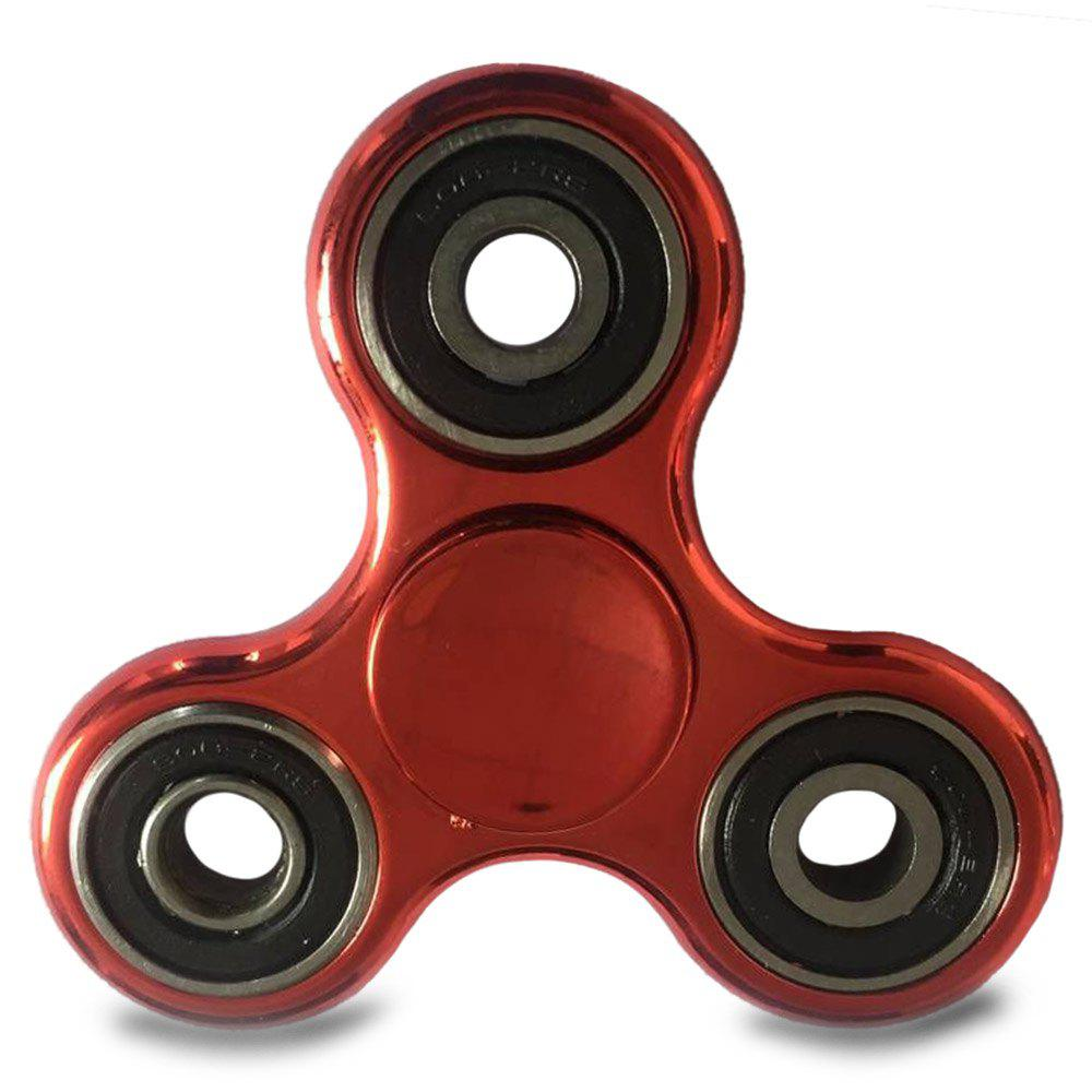 Plastic Finger Gyro EDC Fidget Spinner Stress Relief Toy - RED