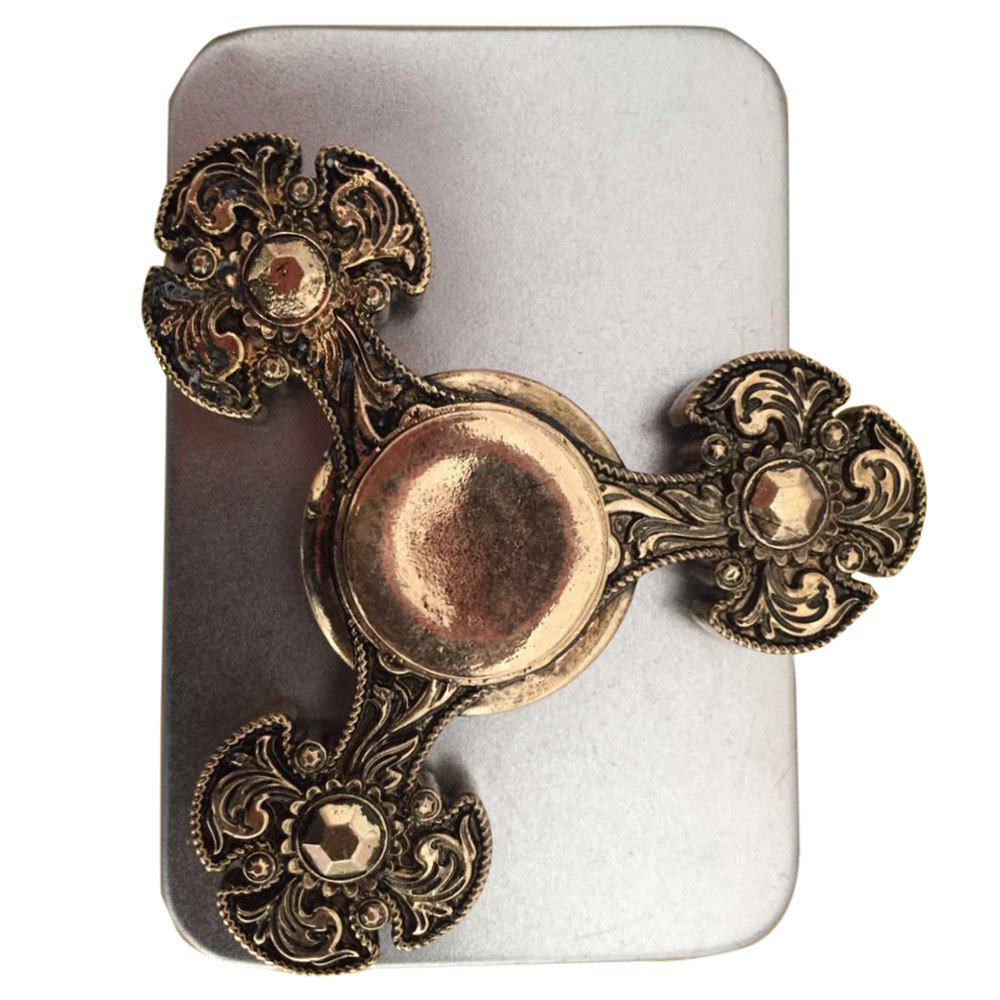 Metal Finger Gyro Flower Fidget Spinner EDC Stress Relief Toy - BRONZE COLORED