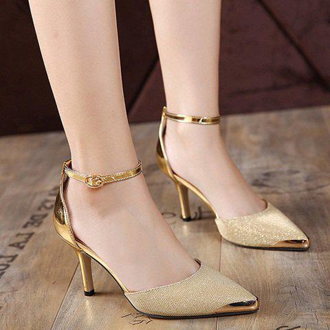 Two Piece Metallic Color Pumps - GOLDEN 37