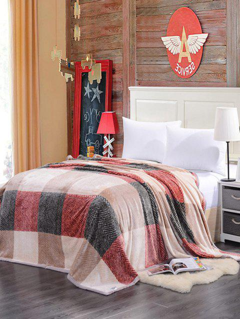 Plaid Printing Super Soft Sofa Nap Literature Throw Blanket - multicolore FULL