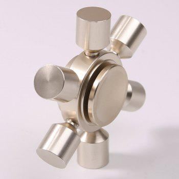 Focus Toy Rudder Fidget Metal Spinner -  SILVER
