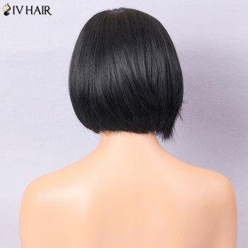 Siv Hair Oblique Bang Straight Short Bob Human Hair Wig -  JET BLACK