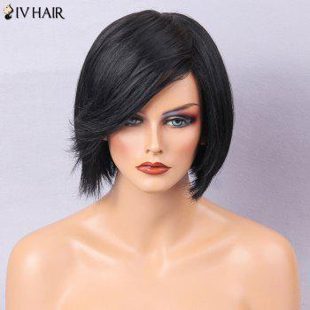 Siv Hair Oblique Bang Straight Short Bob Human Hair Wig