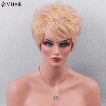 Siv Hair Side Bang Textured Layered Wavy Short Pixie Human Hair Wig